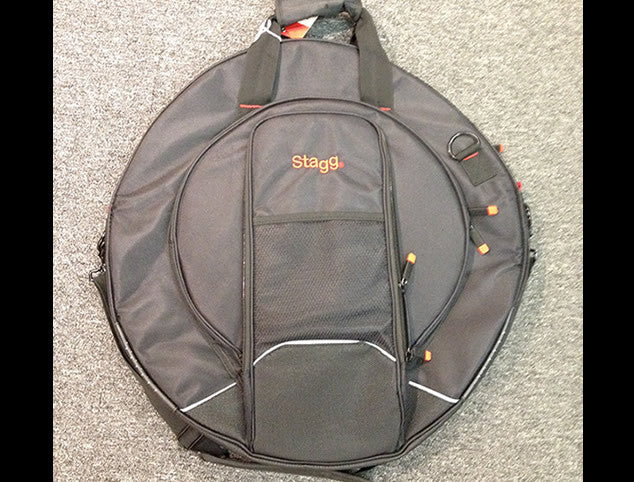 Stagg Deluxe Cymbal Bag with Detachable Stick Bag and Side Compartment