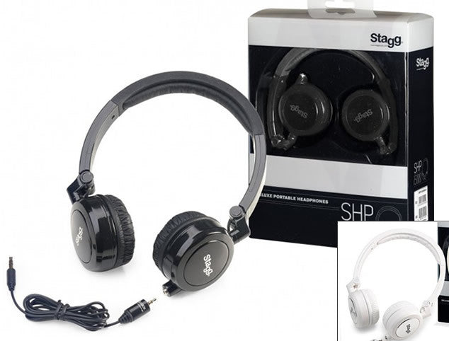 Stagg SHP-I500 Stereo Headphones - Black or White