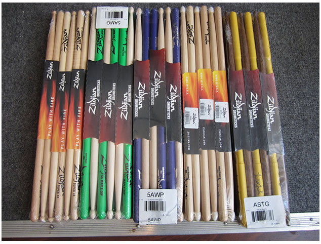 Zildjian Drum Stick Deal - 6 pair, sealed brick