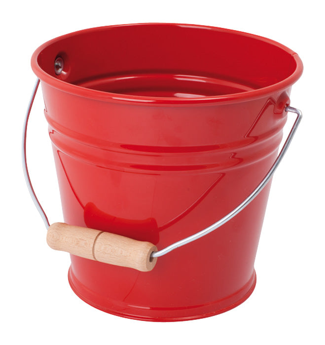 Metal Red Sand Bucket - 15.5cm