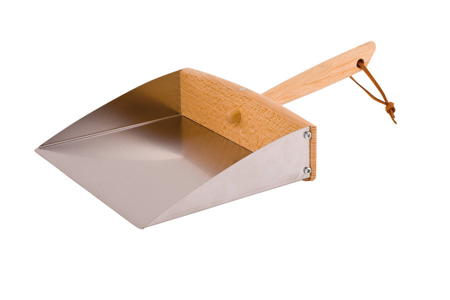 Luxury Dustpan with Oiled Beechwood & Stainless Steel