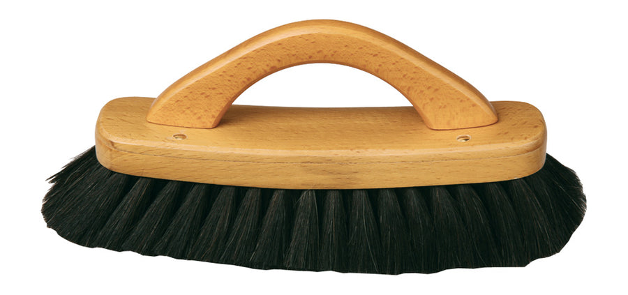 Shoe Shine Brush With Handle Dark Goat Hair