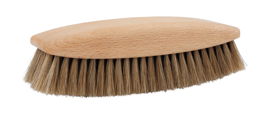 Shoe Shine Brush, Light Horsehair, Large