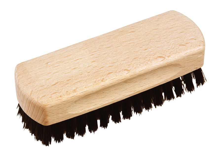Shoe Shine Brush with Black Horsehair - 12cm
