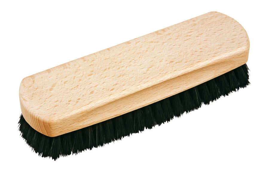 Shoe Shine Brush with Black Horsehair - 16cm
