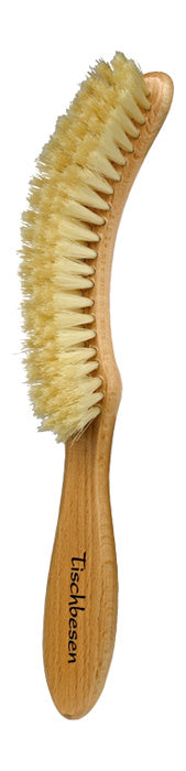 Table Brush with Curved Handle