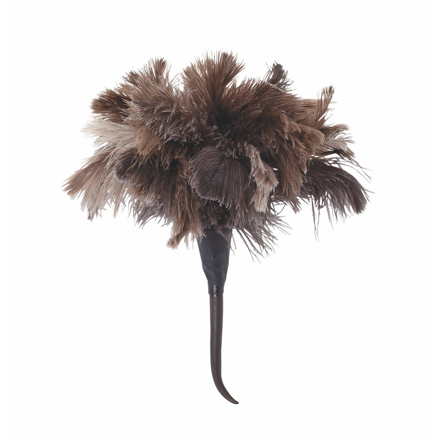 Ostrich Feather Duster with Springbok Horn Handle