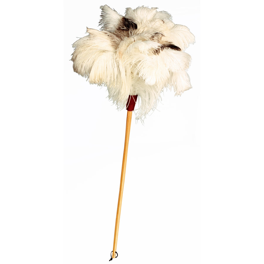 Ostrich Feather Duster with White Feather - 70cm