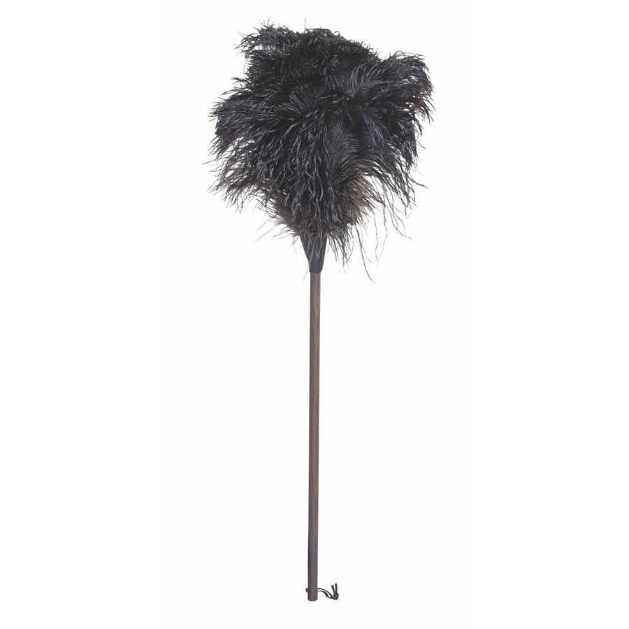 Ostrich Feather Duster with Thermowood Handle - 80cm