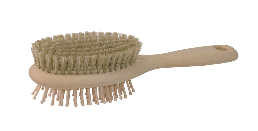Dog Brush - Double Sided with Bristle & Wooden Pins