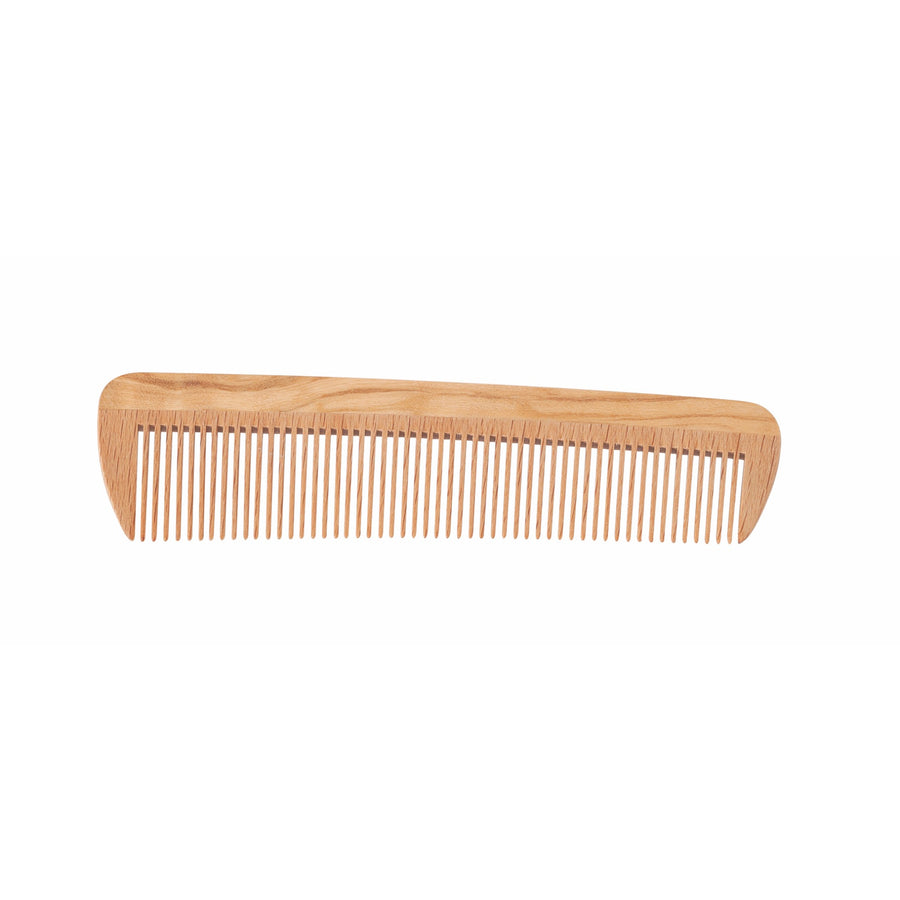 Wooden Pocket Comb, Oiled Beechwood & Olive Wood