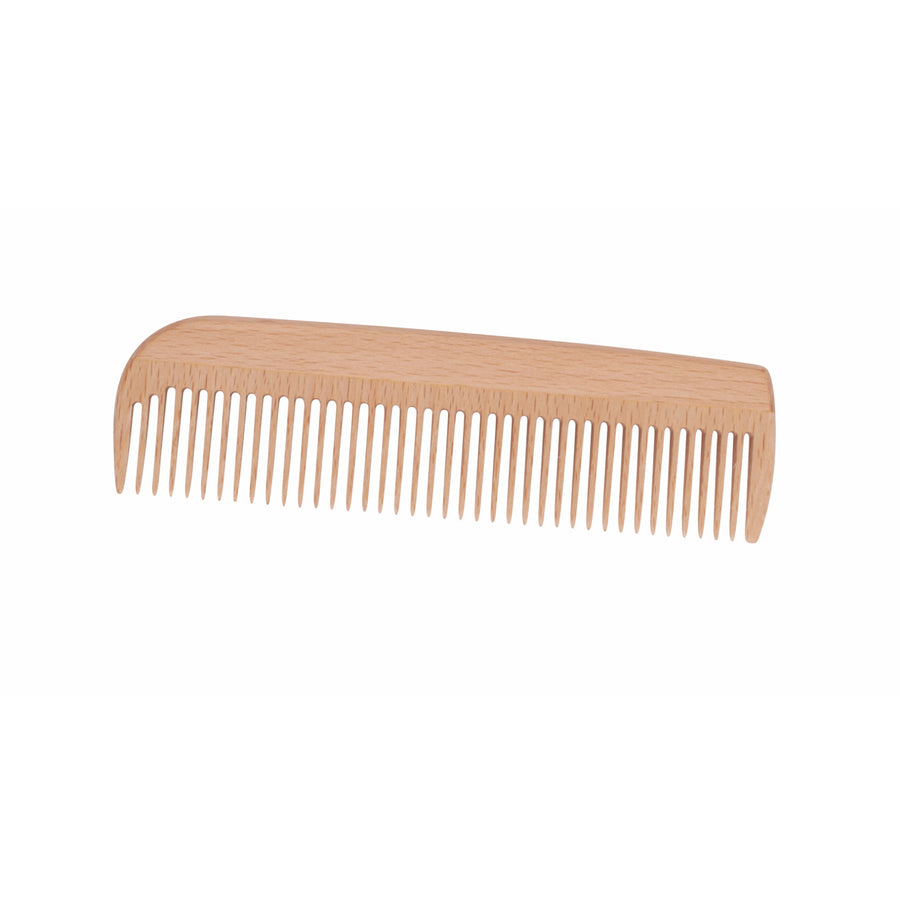Wooden Large Pocket Comb, Waxed Beechwood
