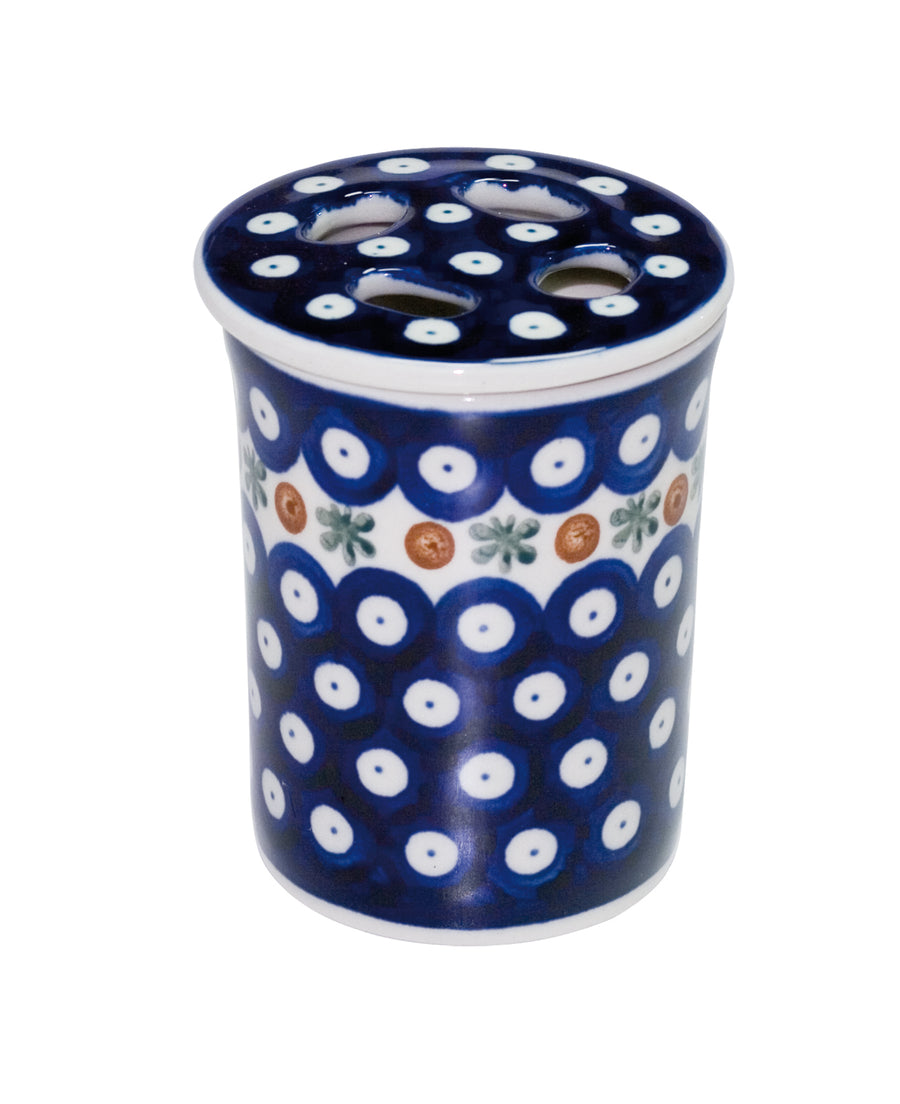 Ceramic Toothbrush Holder - Dark Pattern