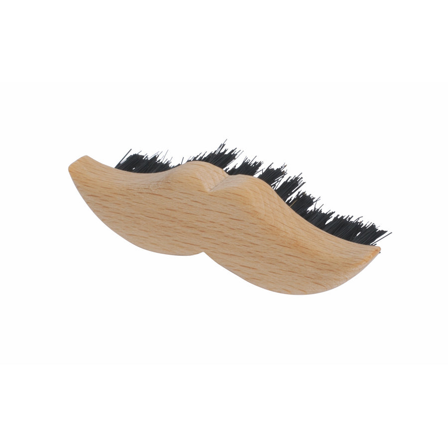 Wooden Moustache Beard Brush Moustache Shape