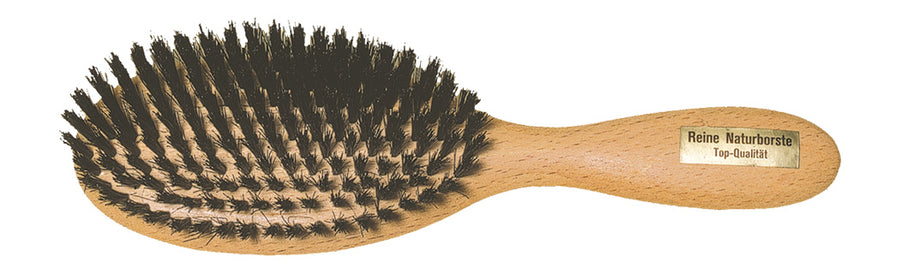 Oval Hairbrush with Beechwood & Bristle - Large