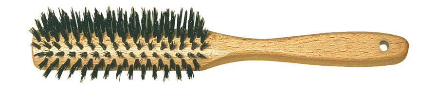 Half-Rounded Hairbrush with Beechwood & Bristle