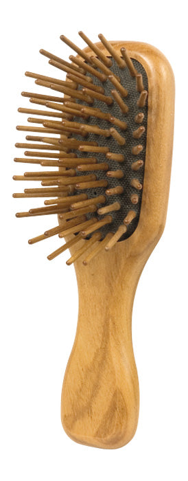 Wooden Hairbrush, Pocket, Olive Wood, Walnut Pins