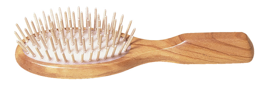 Oval Hairbrush with Olive Wood & Maple Wood Pins - Small