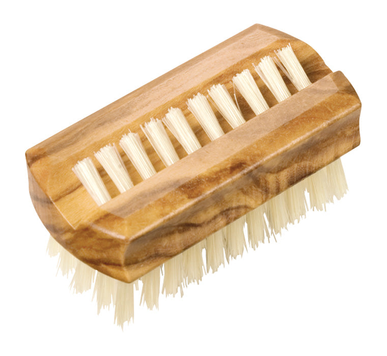 Travel Nailbrush with Olive Wood & Bristle