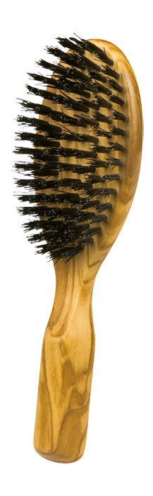 Wooden Hairbrush, Small, Olive Wood, Black Bristle