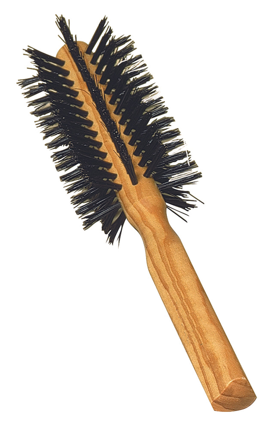 Round Hairbrush with Olive Wood & Bristle