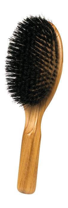 Oval Hairbrush with Olive Wood & Bristle - Large
