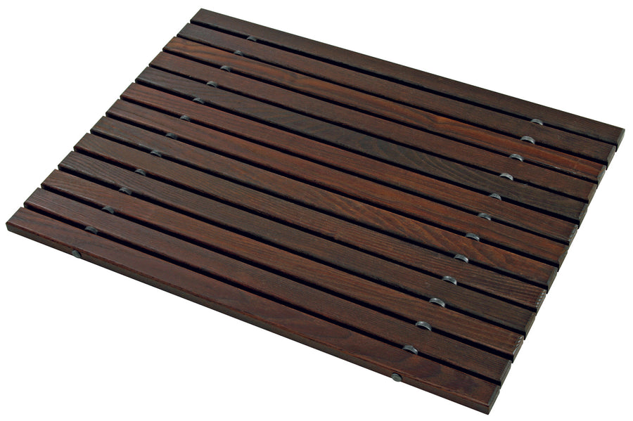 Wooden Bath Mat, Oiled Thermowood, 45Cm X 60Cm