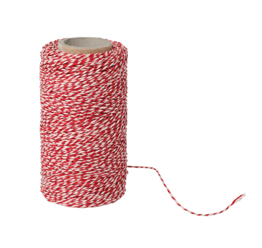 Kitchen Twine - Red & White, 120m Roll