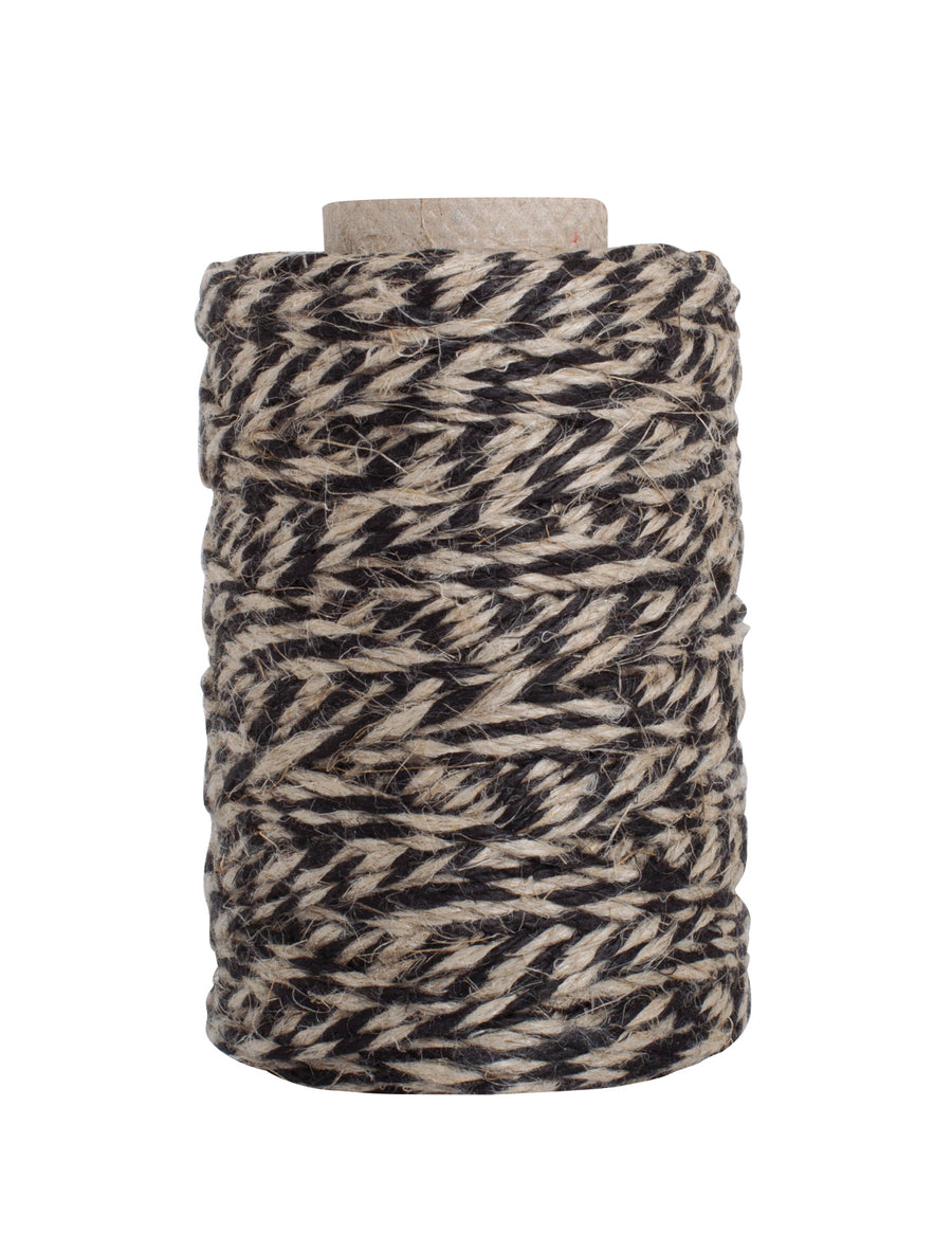 Kitchen Twine - Black & Natural, 55m Roll