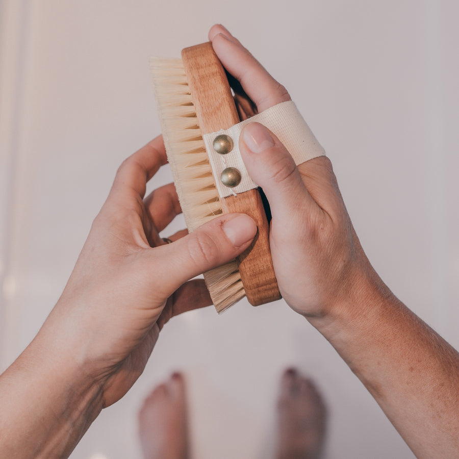 Massage Brush with Horsehair & Tampico Fibre