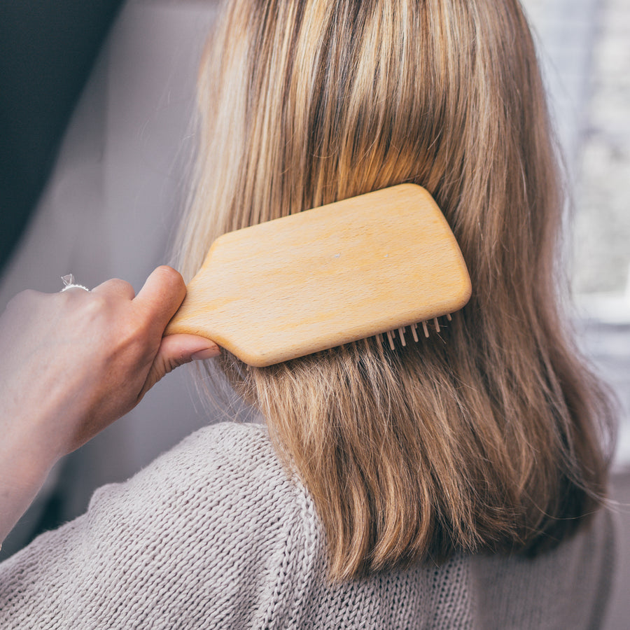 Paddle Hairbrush with Beechwood & Maple Wood Pins
