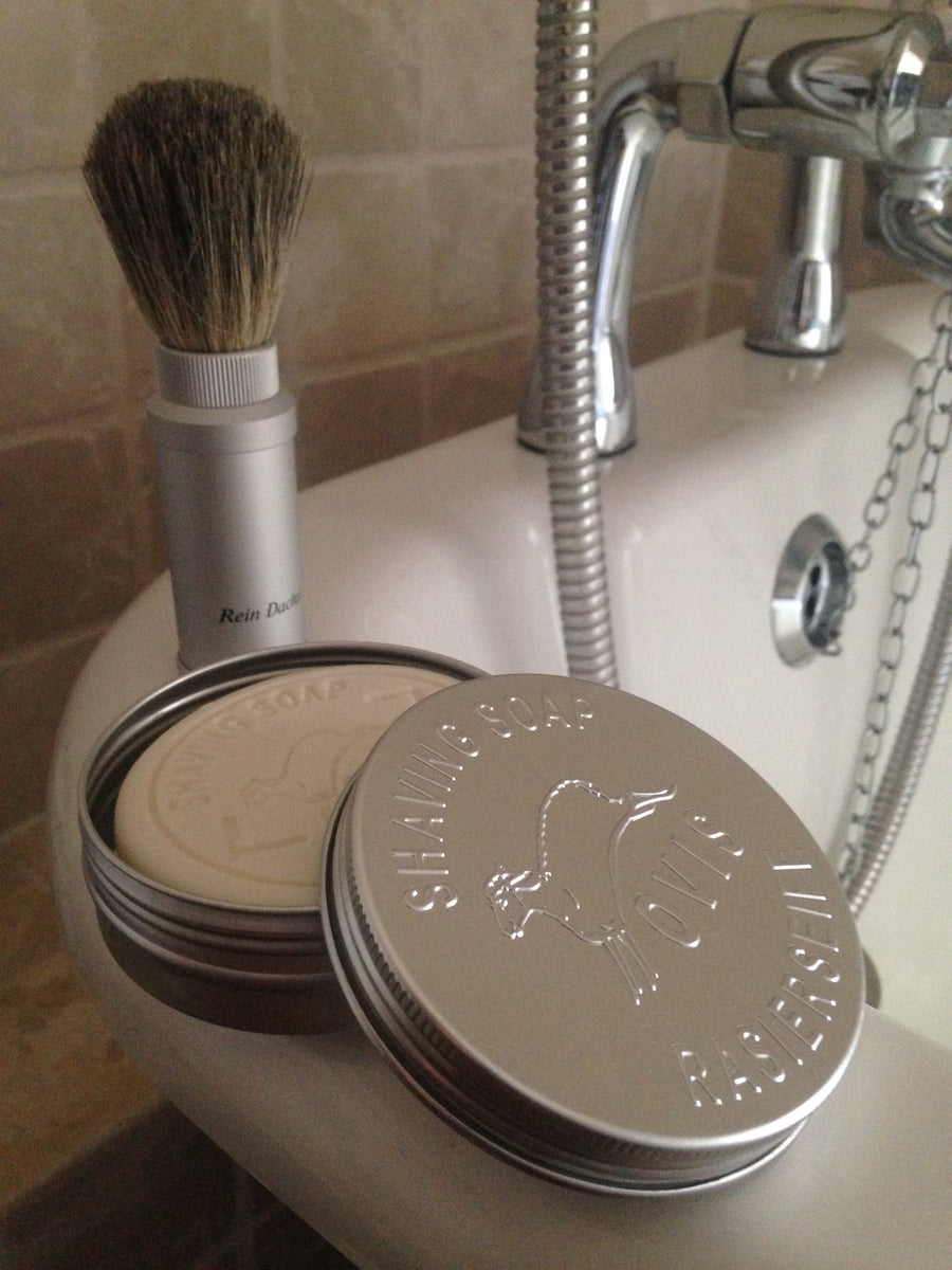 Shaving Soap - Sheep's Milk with Tavel Tin