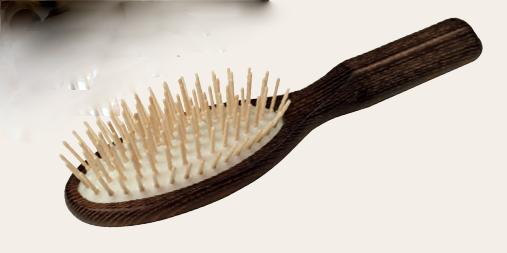 Thermowood Hairbrush Oval Maple Hornbeam Pins