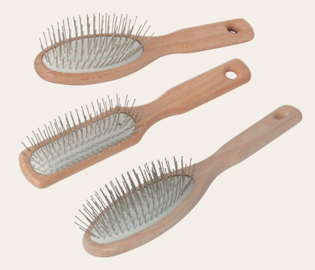 Wooden Head Massage Brush Rectangular 17.5Cm