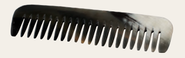 Comb, Extra Wide - Natural Horn