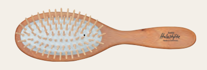 Oval Hairbrush with Beechwood & Maple Wood Pins