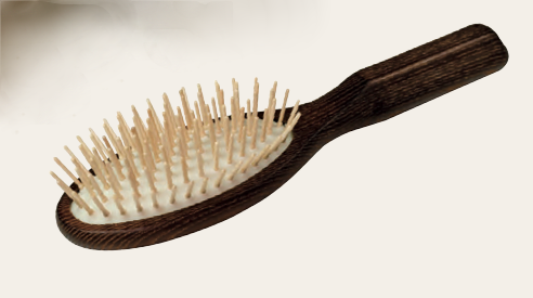 Thermowood Hairbrush With Maple Wood Pins  21.5Cm