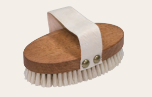 Massage Brush with Steamed Beechwood & Light Bristle