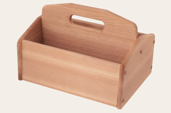 Shoe Cleaning Box Without Lid Beechwood