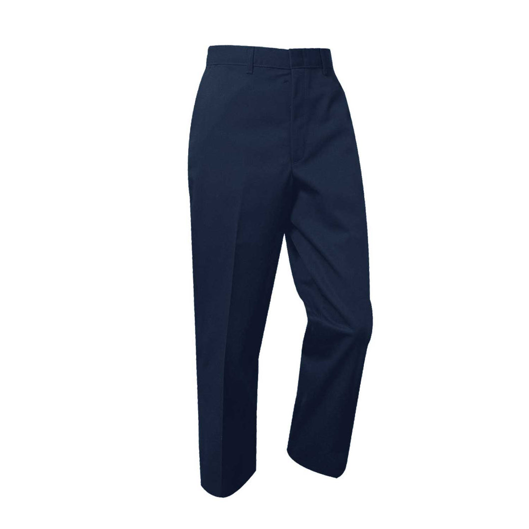 Boys Flat Front Pants-Navy
