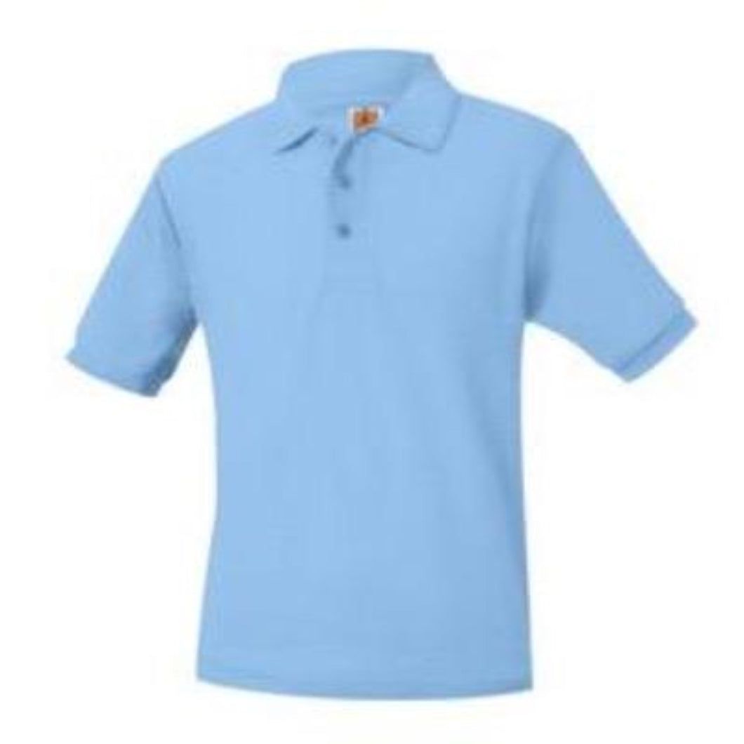 STL Unisex Pique Knit Short Sleeve-Lt. Blue