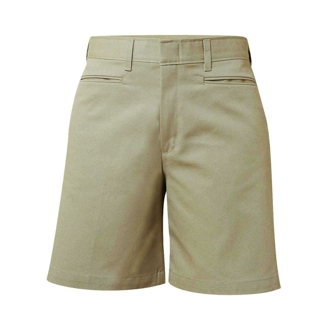 Girls Flat Front Short-Khaki