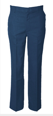 Austin Boys Flat Front Tri-Blend Wool Pants-Navy