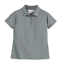 Load image into Gallery viewer, Austin Girls Short Sleeve Fitted Pique Knit-Grey