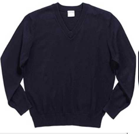 Austin Unisex V-Neck Sweater-Navy