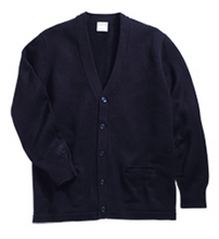 Load image into Gallery viewer, Austin Unisex V-Neck Two Pocket Cardigan-Navy