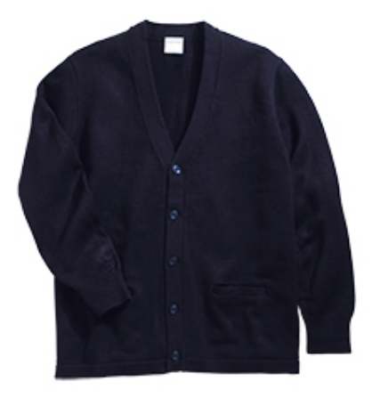 STL V-Neck Two Pocket Cardigan-Navy