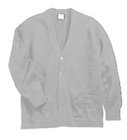 Parkway Unisex V-Neck Two Pocket Cardigan-Grey