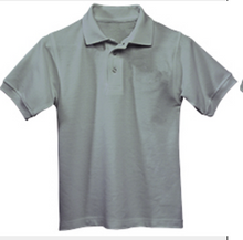 Load image into Gallery viewer, Austin Unisex Short Sleeve Pique Knit Polo-Grey