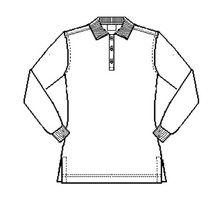 Load image into Gallery viewer, STL Girls Long Sleeve Knit Polo-White
